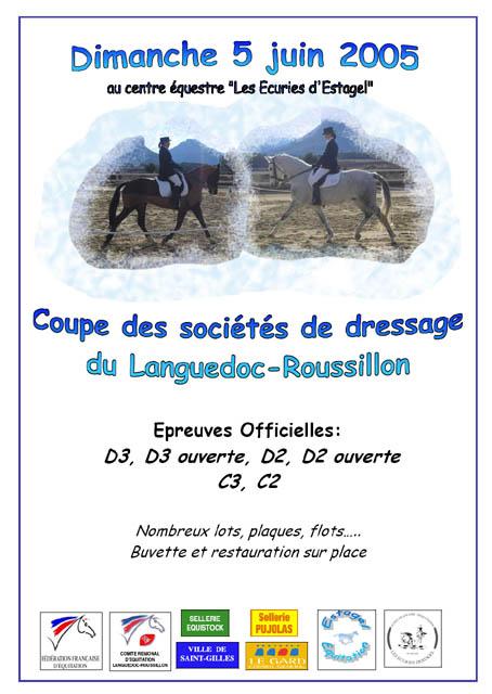 Coupe des sociétés du Languedoc - 05/06/05 - Estagel Affiche5